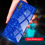 Marble Pattern Tempered Glass Case for Galaxy A70