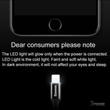 Lightning LED 2A Fast Charging USB Data Cable for iPhone
