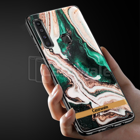 Glossy Agate Luxury Marble Case for Galaxy A9 2018
