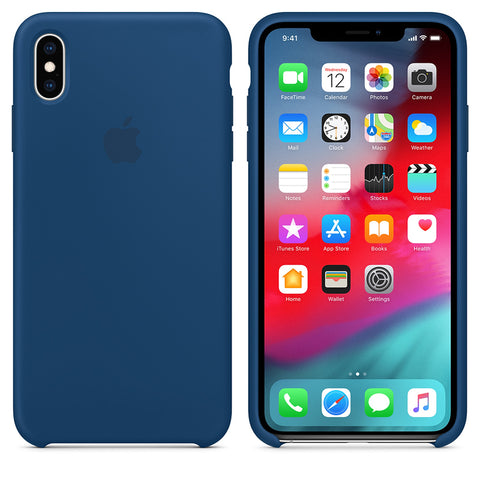 Luxury Silicone Apple Logo Case for iPhone X Series