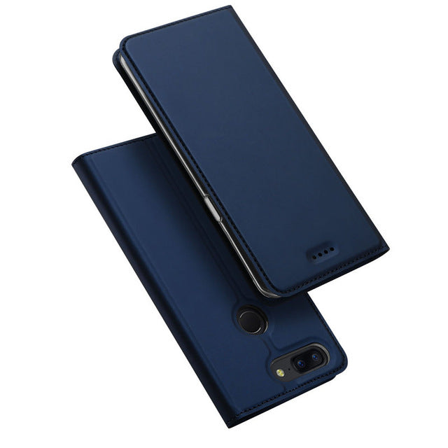 Luxury Leather Flip Case for OnePlus 5T