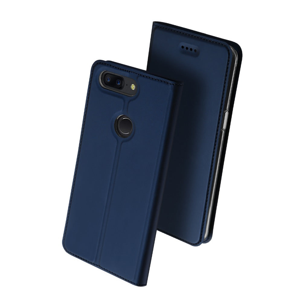 separation shoes 01f2e 55a7e Luxury Leather Flip Case for OnePlus 5T