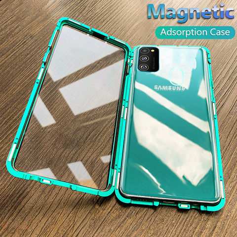 GALAXY M30S ELECTRONIC AUTO-FIT MAGNETIC GLASS CASE