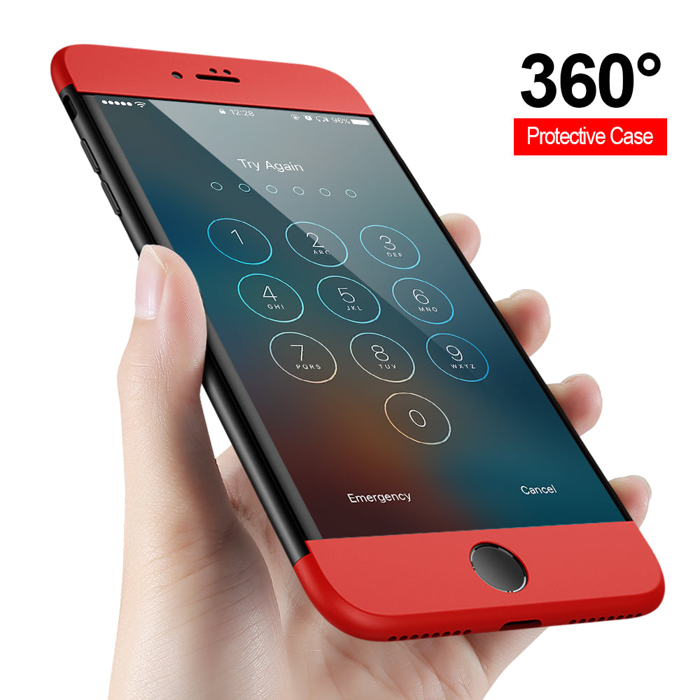 360 Protection Hard Phone Case For Apple Iphone 8 8 Plus Casewale