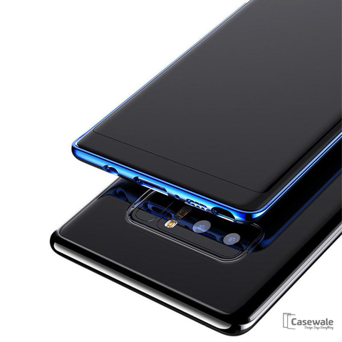 Luxury Plating Clear Soft Transparent Silicone Samsung Note 8 Cases