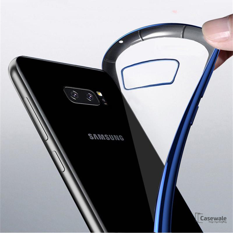 Luxury Plating Clear Soft Transparent Silicone Samsung Note 8 Cases Casewale