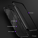 Electronic Auto-Fit Magnetic Glass Case for iPhone XS Max