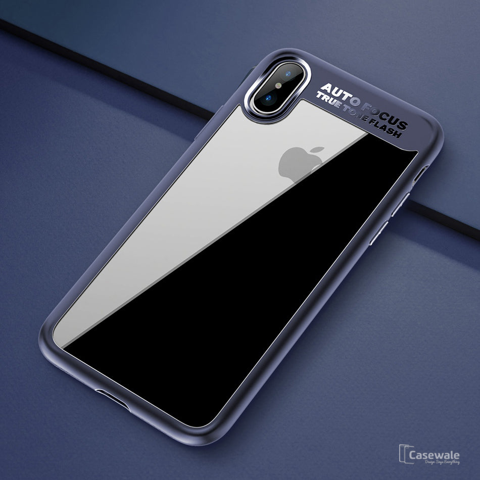 sports shoes c6747 1a941 Full Protective Transparent TPU Auto Focus Case for iPhone X [Best Selling  Case]