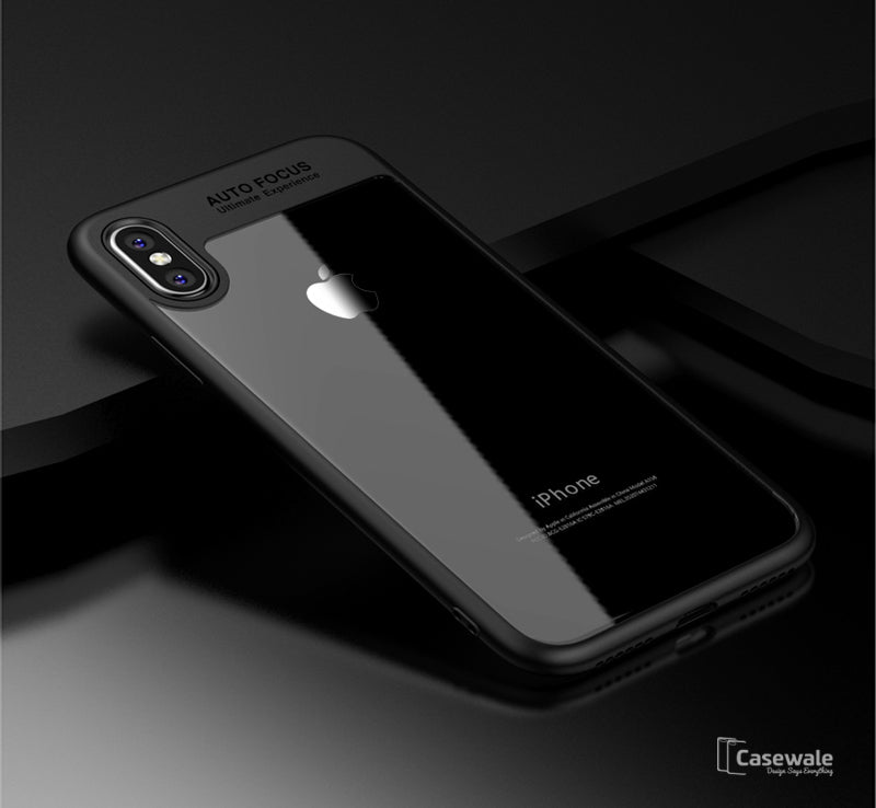 sports shoes e4cc9 812e3 Full Protective Transparent TPU Auto Focus Case for iPhone X [Best Selling  Case]