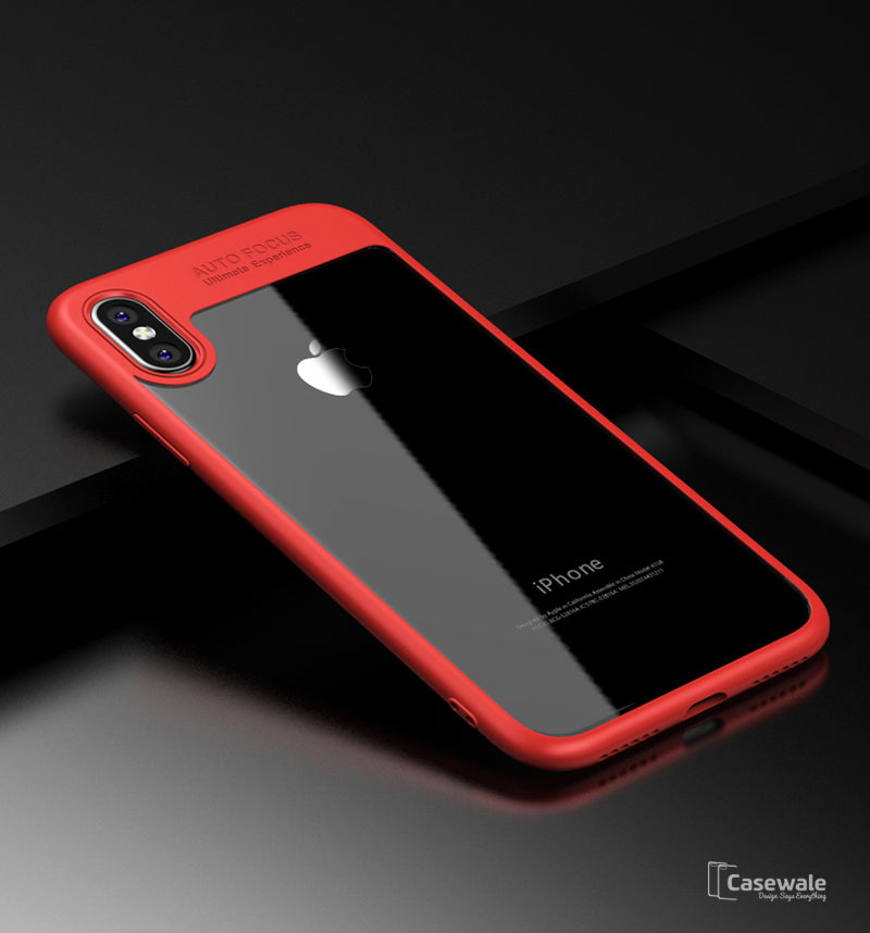 sports shoes 9f14a 6a0a1 Full Protective Transparent TPU Auto Focus Case for iPhone X [Best Selling  Case]