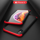 360 Full Body Protection Hard Matte Case For Apple iPhone X