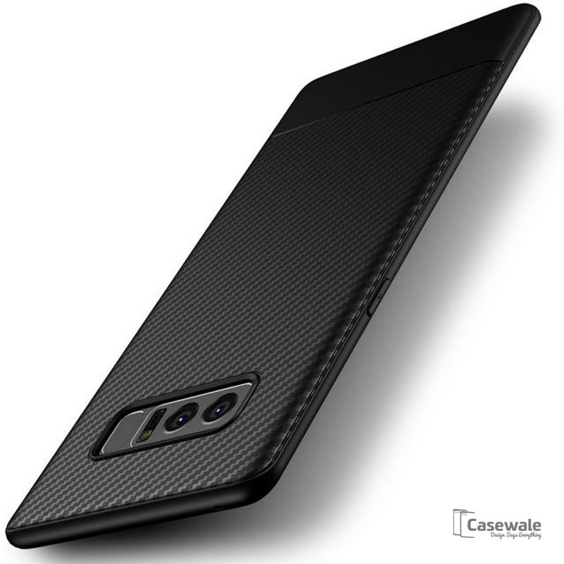 Carbon Fiber Soft Silicone Case for Galaxy Note 8