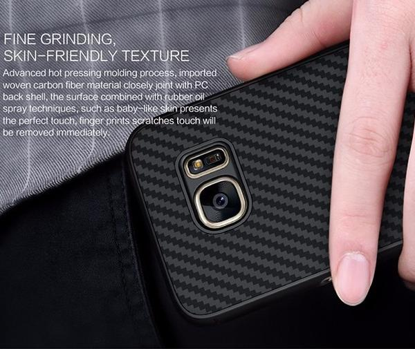 Galaxy S7 Edge Carbon Fiber Case with Stand