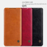 Nillkin Qin Retro PU leather Flip Case for Galaxy S20 Ultra