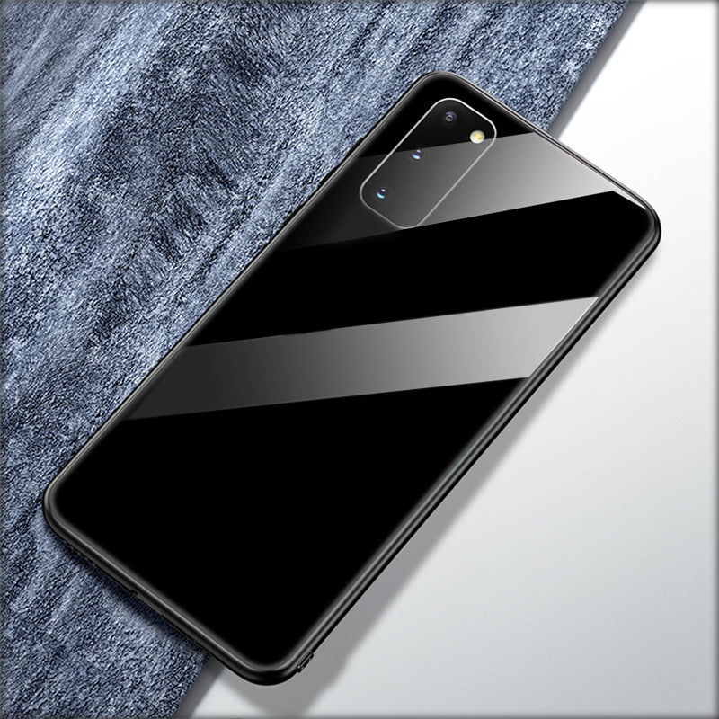 Luxury Tempered Glass Soft Edge Case for Galaxy S20/ S20 Plus