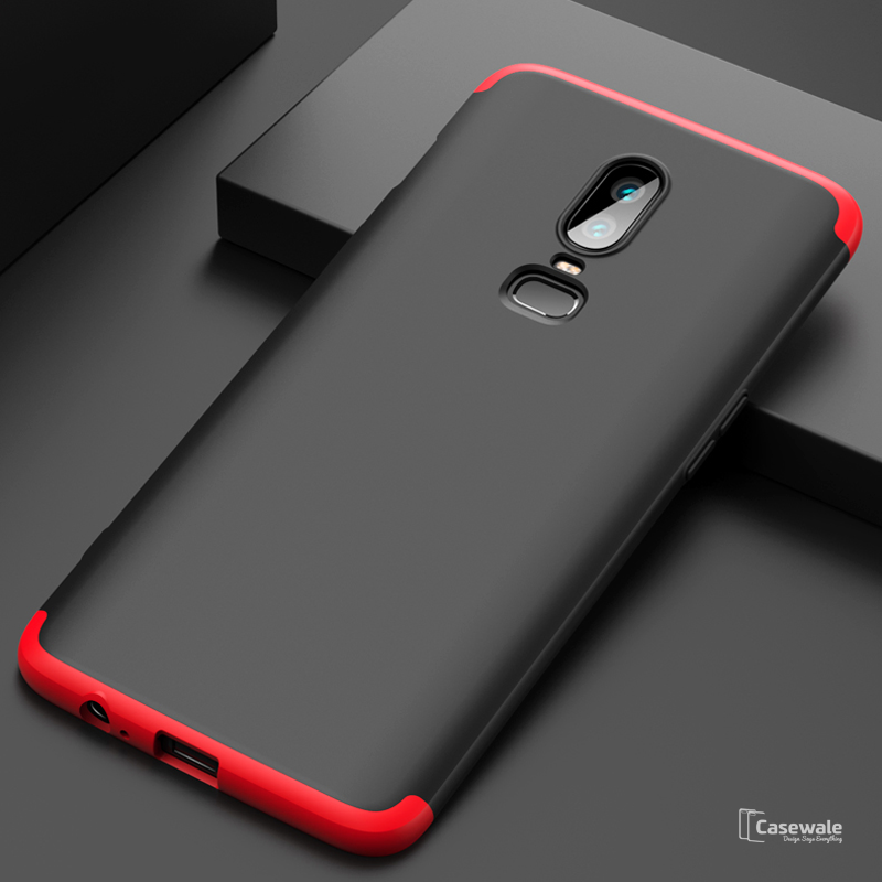 timeless design 4834b 52cee 360 Full Body Protection Hard Matte Case for OnePlus 6 [100% Original GKK]
