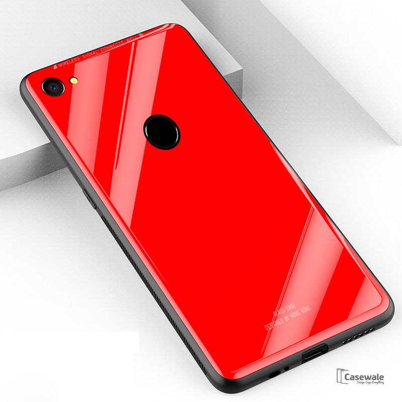 Smooth Luxury Ultra Thin Glass Shell Case for OPPO F7