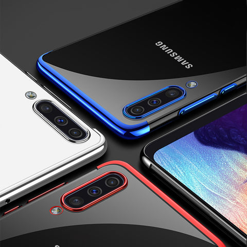 High-end Fashion Transparent Plated Case for Galaxy A7 2018
