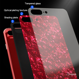 Marble Magnetic Auto-fit Tempered Glass Case for iPhone 6, 7, 8