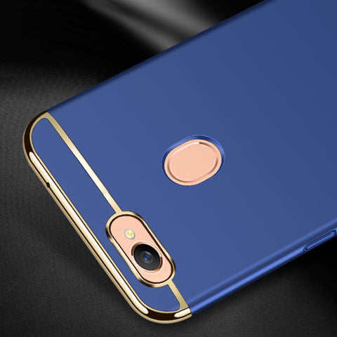 Electroplated Luxury 3-In-1 Back Case for Oppo F7