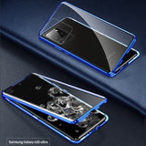 Double Sided Aluminum Metal Glass Case for Galaxy S20 / S20 Plus