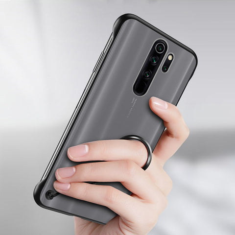 Luxury Frameless Semi Transparent Ring Finger Case for Redmi Note 8 / Note 8 Pro
