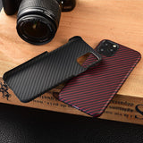 Ultra Thin Carbon Fiber Protective Case for iPhone 11 Series