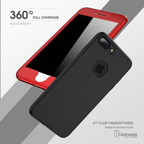 360 Protection Ultra-thin Soft TPU Silicone Case for iPhone 8, 8 Plus