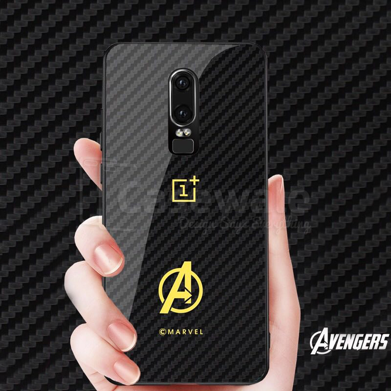 Original Avengers Ultra Thin Full Protection Glass Case for OnePlus 6