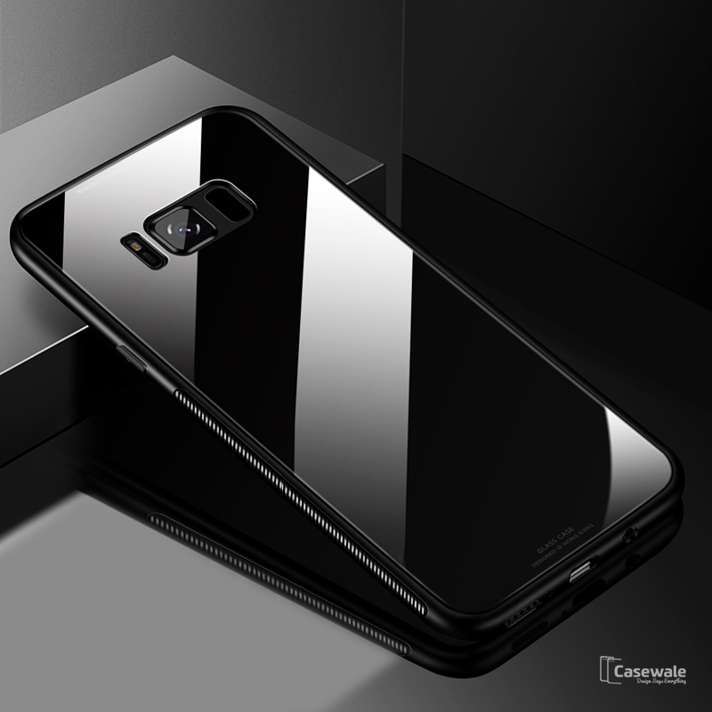 Luxury Tempered Glass Protective Back Case for Galaxy S8/ S8 Plus