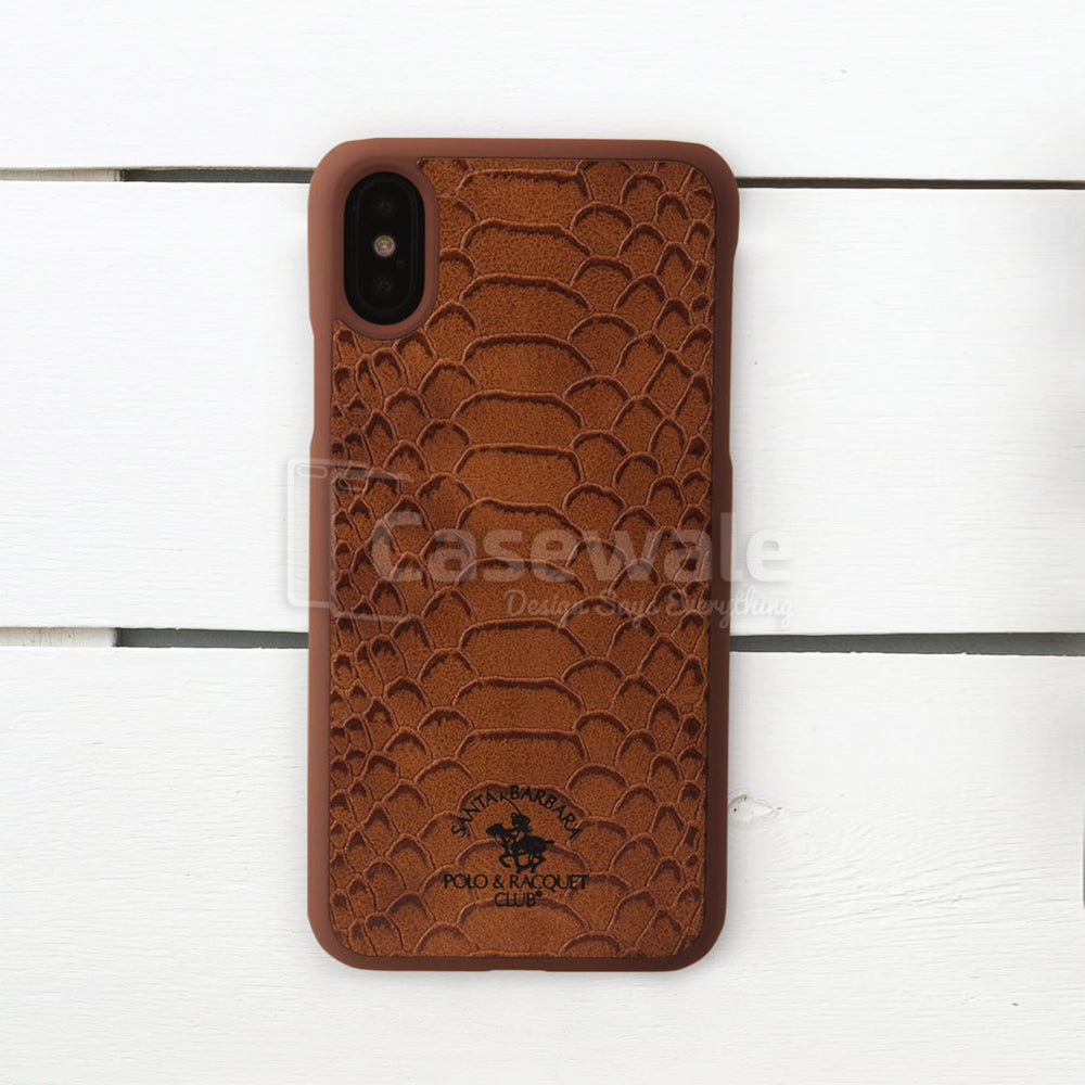 best loved 4eb91 a097a Premium Croc-Skin Design Leather Case for iPhone X