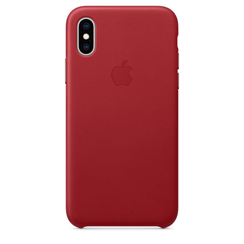 Leather Case for iPhone X Series- Red