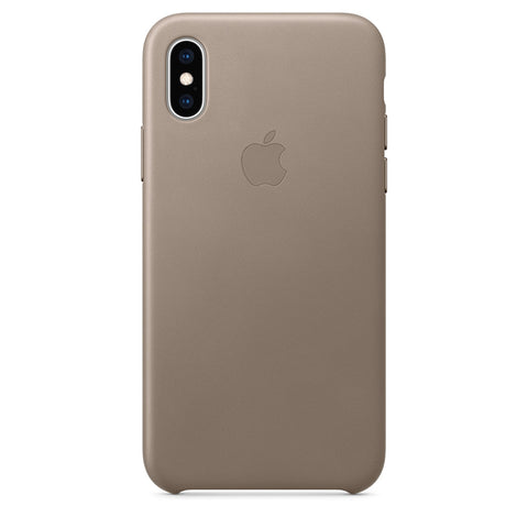 Leather Case for iPhone X Series- Taupe