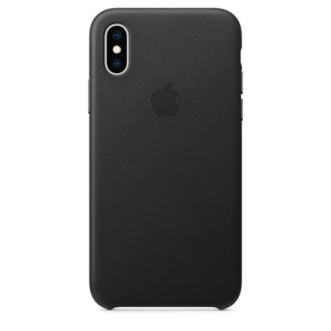 Leather Case for iPhone X Series- Black