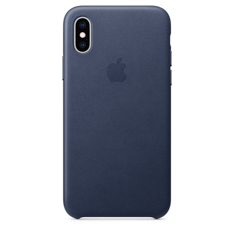 Leather Case for iPhone X Series- Midnight Blue