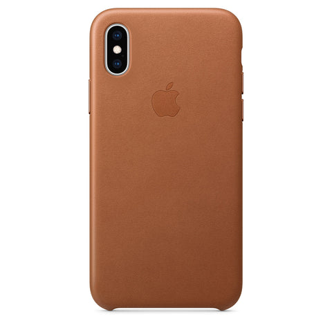 Leather Case for iPhone X Series- Saddle Brown