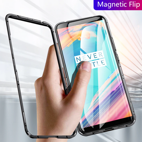 Electronic Auto-Fit Magnetic Glass Case for OnePlus 7 Pro