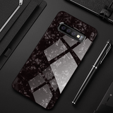 Marble Pattern Tempered Glass Case for Galaxy S10/ S10 Plus