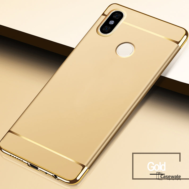 new product 448c6 6c892 Luxury Electroplating 3 in 1 Case for Redmi Note 5 Pro