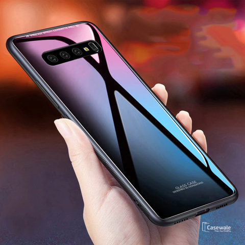 Smooth Tempered Glass Case for Galaxy S10/ S10 Plus