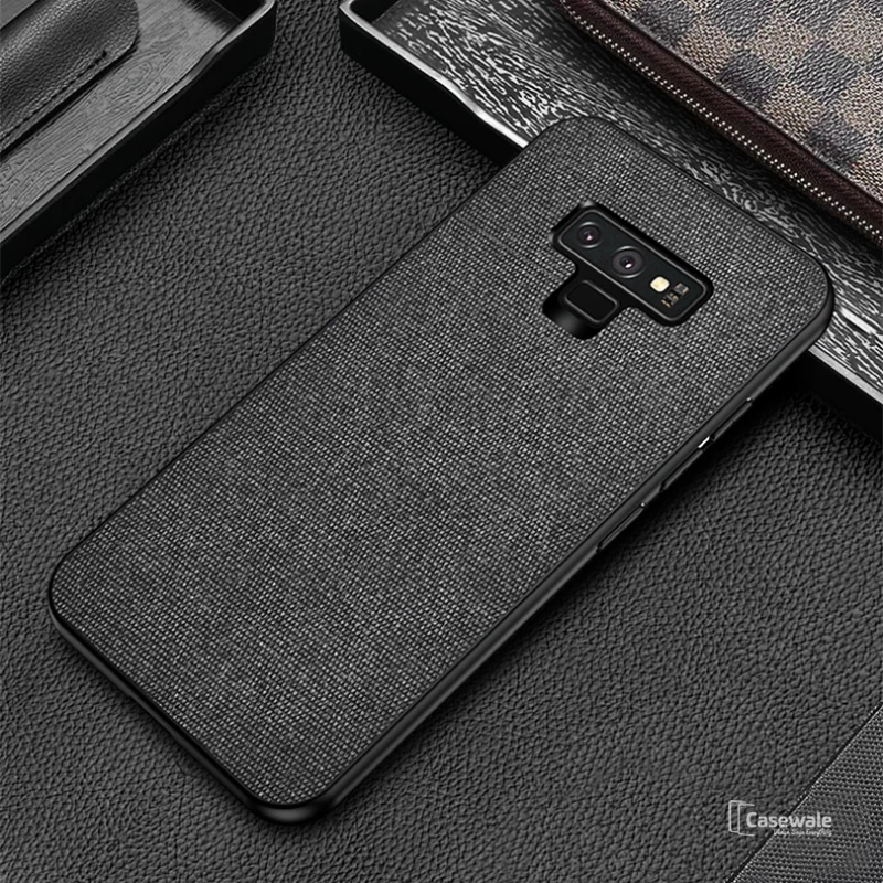 Luxury Silicone Edge+Hard Cloth Texture Case for Galaxy Note 9