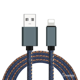 Jean Cloth 2.1A Data Fast Charging Micro USB Cable for iPhone