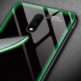 Aurora Tempered Glass Neon Glowing Case for OnePlus 7