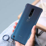 Luxury Frameless Semi Transparent Ring Finger Case for OnePlus 7T / 7T Pro
