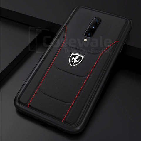 Ferrari ® OnePlus 7 / 7 Pro Genuine Leather Crafted Limited Edition Case