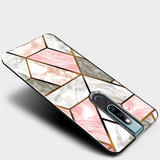 Cosmo Marble Pattern Glass Case for Oppo F11 Pro