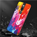 Color Splash Marble Pattern Glass Case for Oppo F11 Pro