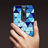 Spheres Blue Marble Pattern Glass Case for Oppo F11 Pro