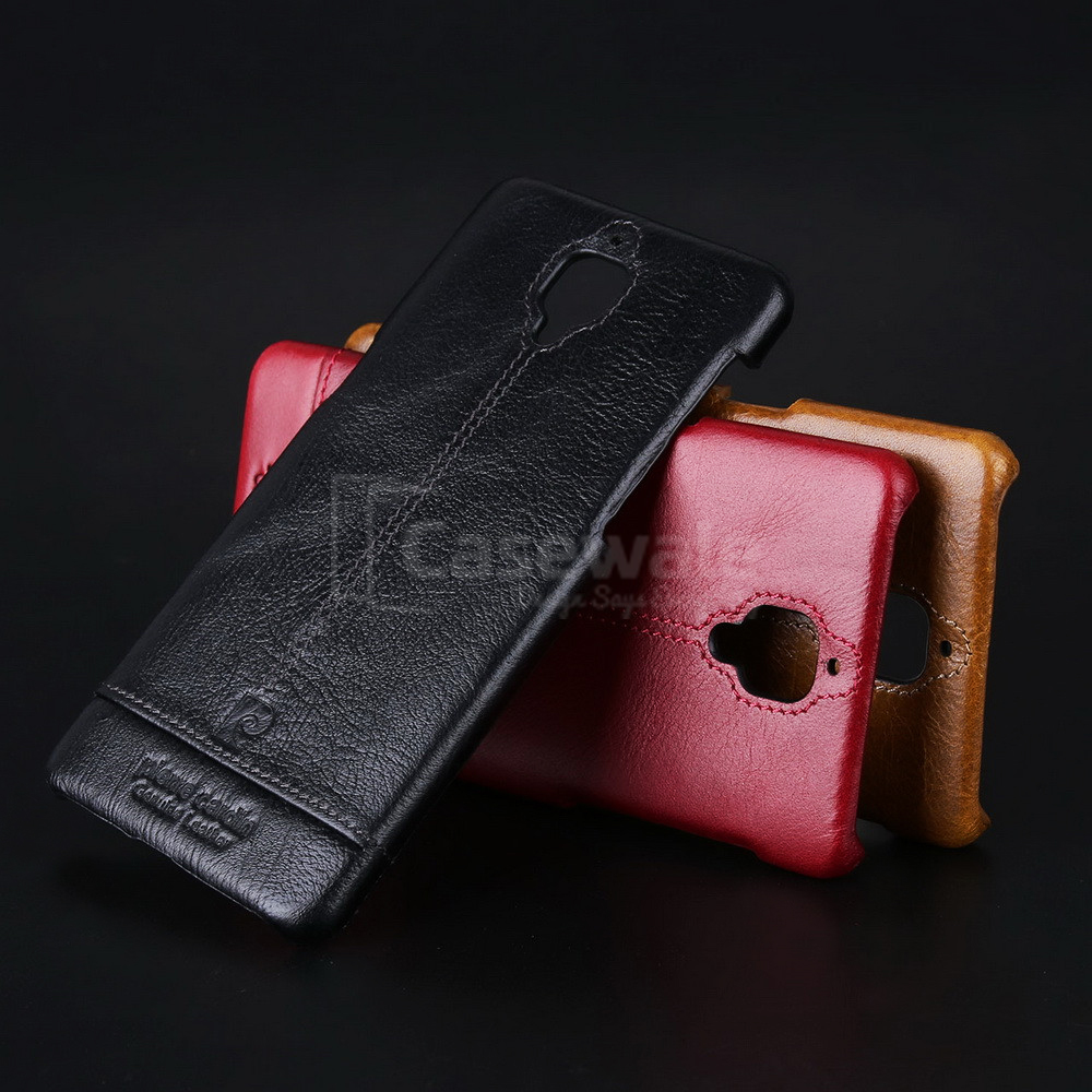 new style e910d 573d8 OnePlus 3/ 3T Luxury Genuine Leather Hard Slim Phone Case