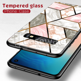 Cosmo Marble Pattern Glass Case for Galaxy S10/ S10 Plus
